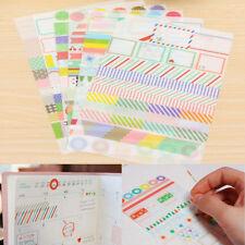 6 Sheets/Set Calendar Scrapbook Diary Book Decor Paper Planner Sticker for Kids