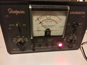 Vintage Simpson In Circuit Capacohmeter - Model 383A - Powers On; Good Condition
