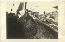 Mining or Agriculture? Belted Machinery Men Working c1915 Real Photo Postcard