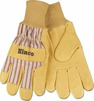 RuggedWear Men/'s Dexterity Yellow Spandex-Pigskin Leather Work//Drive Wrist Glove