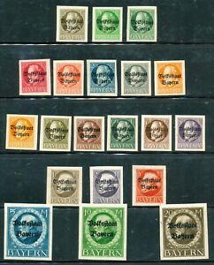 GERMANY-1919  -BAVARIA-BAYERN SC # 156-175 IMPERF,-MNH ( 1 )