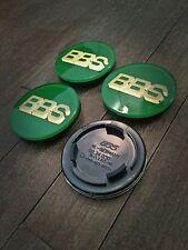 70mm BBS Style Green / Gold Felgendeckel Nabenkappen Llantas Roue Wiel Roda