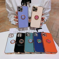 Plating Ring Silicone Soft Case Cover For iPhone 12 Pro Max 12 Mini 11 XS XR 7 8