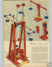 1946 PAPER AD 2 Pg Building Tech Plastic Train Dump Truck Scale Engine Ladder