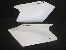 Suzuki RMZ450 2005-2007 New white rear number plate side panel set CP021