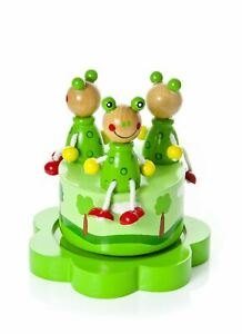 Mousehouse Green Frog Children's Wooden Pop Goes the Weasel Music Box
