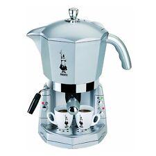 Bialetti CF40 Mokona Trio Silver Macchina per caffè Espresso con Cappucinatore