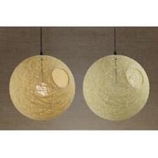 E27 Rattan Ball Ceiling Pendant Lampshade Home Bar Restaurant Decor-Beige