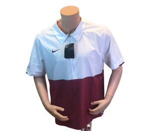 Nike Lightweight Jacket 1/2 Zip Pullover Mens Size L White / Maroon NWT$65