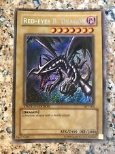 RED-EYES BLACK DRAGON  BPT-005 Rare Holo YuGiOh Card Promo. EXCELLENT CONDITION!