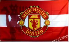 Manchester United Flag Banner 3x5 ft England Premier Football Soccer Red Devils