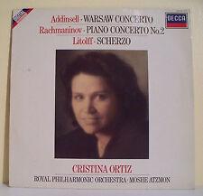 """33T Cristina ORTIZ Piano Disque LP 12"""" ADDINSELL RACHMANINOV LITOLFF Classique"""