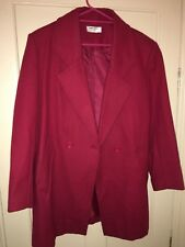 Long Red Coat Womens Size 14