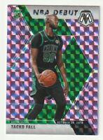 2019-20 Panini Mosaic Prizm Purple Rookie RC Tacko Fall NBA Debut Celtics SP /49