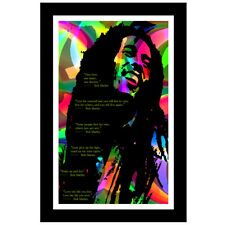 """Bob Marley Quotes Poster Large Mural Print Wall Art Reggae Legend up to 24"""" x36"""""""