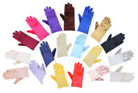 Ladies Stretchy Satin Gloves Wrist Elbow Long Evening Party  Fancy Dress Costume