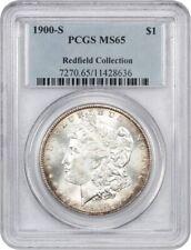 1900-S $1 PCGS MS65 - Morgan Silver Dollar - Lustrous Gem!