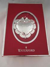 2011 Annual Waterford Silver 1st First Christmas Together Ornament 155539 NIB