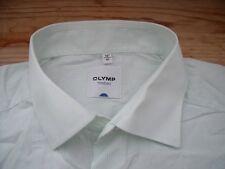 TA268 Olymp Tendenz Businesshemd Kombimanschette 41 weiß Türkis gestreift Sehr g