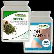60 Caffè Verde Bean Extract & 60 Detox Colon Cleanse Perdita di peso dieta pillole