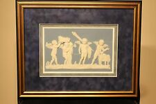 Delicate Antique Wedgwood Jasper Ware Marriage of Cupid and Psyche Framed Plaque