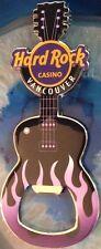 Hard Rock Casino VANCOUVER 2013 GUITAR MAGNET Purple Flames Bottle OPENER - NEW!
