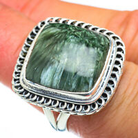 Large Seraphinite 925 Sterling Silver Ring Size 7.5 Ana Co Jewelry R44245F