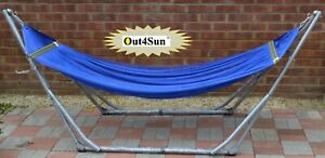 Out4Sun Metal Folding Hammock Set, Portable Relaxing Bed, NEW and Upgraded
