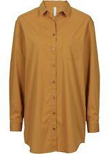 Bluse Business Gr 44 karamell braun Longbluse Hemdbluse langarm Hemd