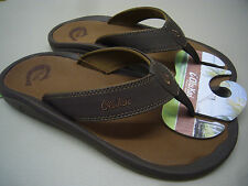 OLUKAI MENS SANDALS OHANA DARK JAVA RAY SIZE 15