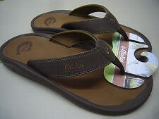 accd8e4ede0c Men s OluKai Ohana Dark Java Ray Flip Flops Sandals 10 Medium