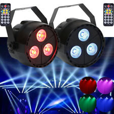 2PCS RGB 3 LED PAR Light DMX512 Wedding Show Bar Party DJ Disco Stage Lighting