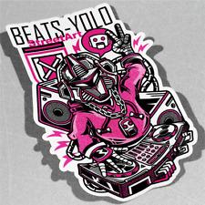 Beats Yolo Techno Música Dance Vinilo Pegatina Calcomanía ventana de coche furgoneta bicicleta 3241