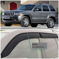 JE11205 Window Visors Vent Wide Deflectors For Jeep Grand Cherokee 2005-2010