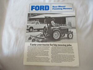 Ford 930A  rear mount mower specification sheet brochure
