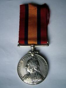 Genuine Victorian silver Boer War QSA medal erased good gap filler GF