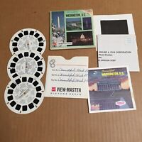 Vintage View-Master 3-Reel Set Beautiful Washington DC Complete Booklet EUC