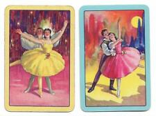 BALLET BEAUTIFUL X 2  ONLY SINGLE VINTAGE BALLET PLAYING/SWAPCARDS..    .