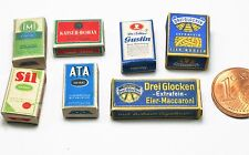 7 Nostalgische Miniatur Verpackungen Kaufmannsladen 1:12 Puppenstube Puppenhaus