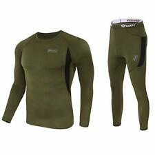 WINDCHASER ESDY Men's Winter Thermal Underwear Camouflage Set of Long Sleeve Top