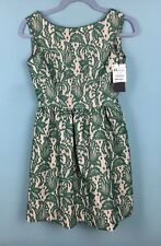 Zara Green Lace Overlay Low Back Tulip Mini Dress XS Worn By Kate Middleton -B48