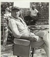 """JOHN WAYNE in """"The Green Berets"""" Original Vintage Behind Scenes Photo 1968"""