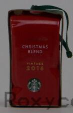 2016 Starbucks Holiday Christmas Blend Red Coffee Bag Tree Ornament NWT