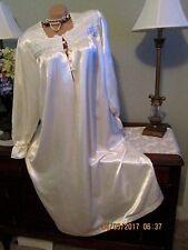 Erika Taylor Ivory cuddleskin satin LONG NIGHTGOWN GOWN DRESS LINGERIE MEDIUM