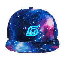 2017 Anime Naruto Konoha Baseball Cap Snapback Sun Hat Cosplay Hip Hop Luminous