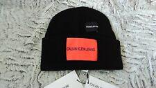 Calvin Klein Jeans ! J Patches Beanie M. Scwarz. Wolle /Cachemir mix!