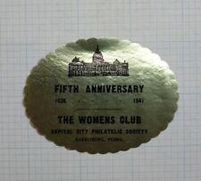 The Womens Cl 00004000 ub Capital City Philatelic Society Harrisburg Pa Event Label
