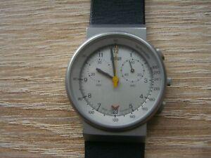 Braun Chronograph Armbanduhr AW70 3806 Design Herrenuhr Lederarmband