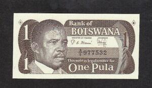 1 PULA UNC BANKNOTE FROM BOTSWANA 1983 PICK-6