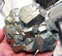PYRITE PENTADODECAHEDRAL CRYSTALS on MATRIX from PERU...............JULCANI MINE